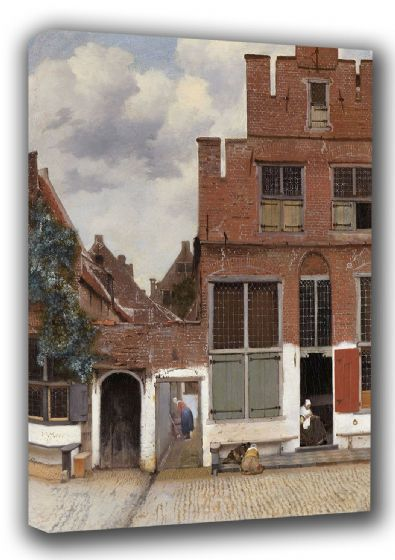 Vermeer, Johannes: The Little Street/Street in Delft. Dutch Fine Art Canvas. Sizes: A3/A2/A1 (001839)